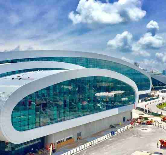 Norwegian Cruise Terminal Outside View | Specialty Engineering Windows and Doors Project