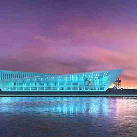 Royal Caribean Cruise Terminal Outside View | Specialty Engineering Windows and Doors Project